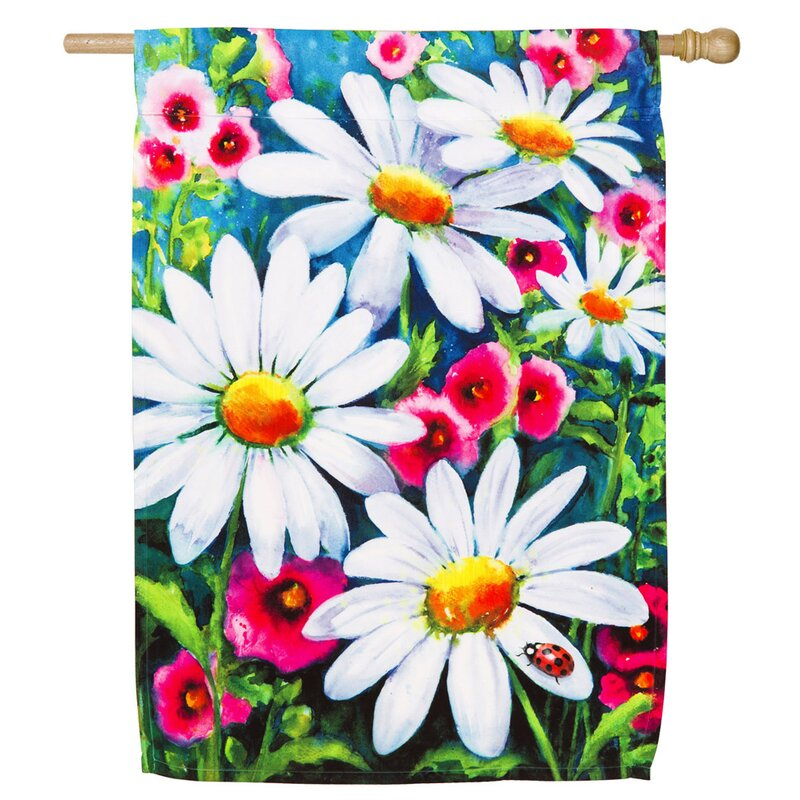 Evergreen Flag Garden Big Daisies 2 Sided Polyester 43 X 29 In Garden Flag Wayfair