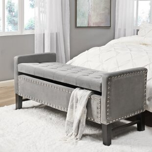 Tess Upholstered Storage Bench by Alcott Hill