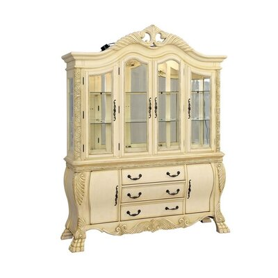 """Astoria Grand Chenault 70.5"""" Wide 4 Drawer Dining Hutch  Color: Beige"""