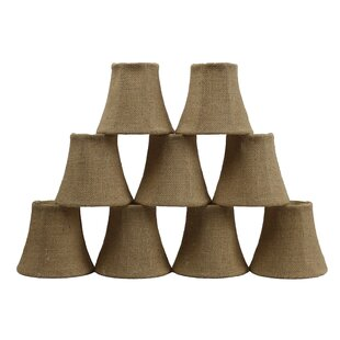 5 Burlap Bell Candelabra Shade (Set of 9)