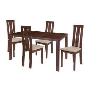 Snediker 5 Piece Solid Wood Dining Set by Winston Porter