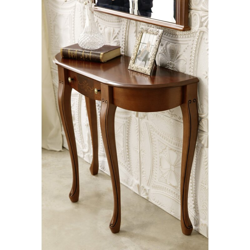 Royce Solid Wood Console Table In Walnut