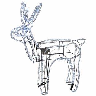 Animated Standing Christmas Reindeer LED Lighted Display By The Seasonal Aisle
