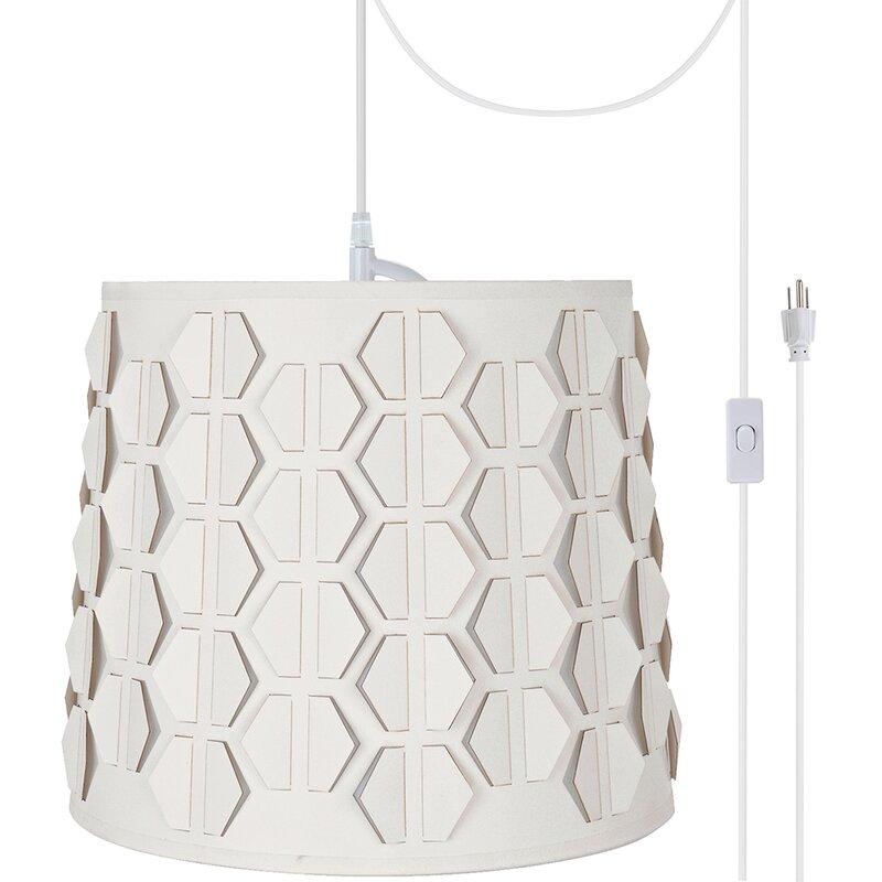 Ebern Designs Swarthout Plug In Swag 1 Light Drum Pendant Wayfair