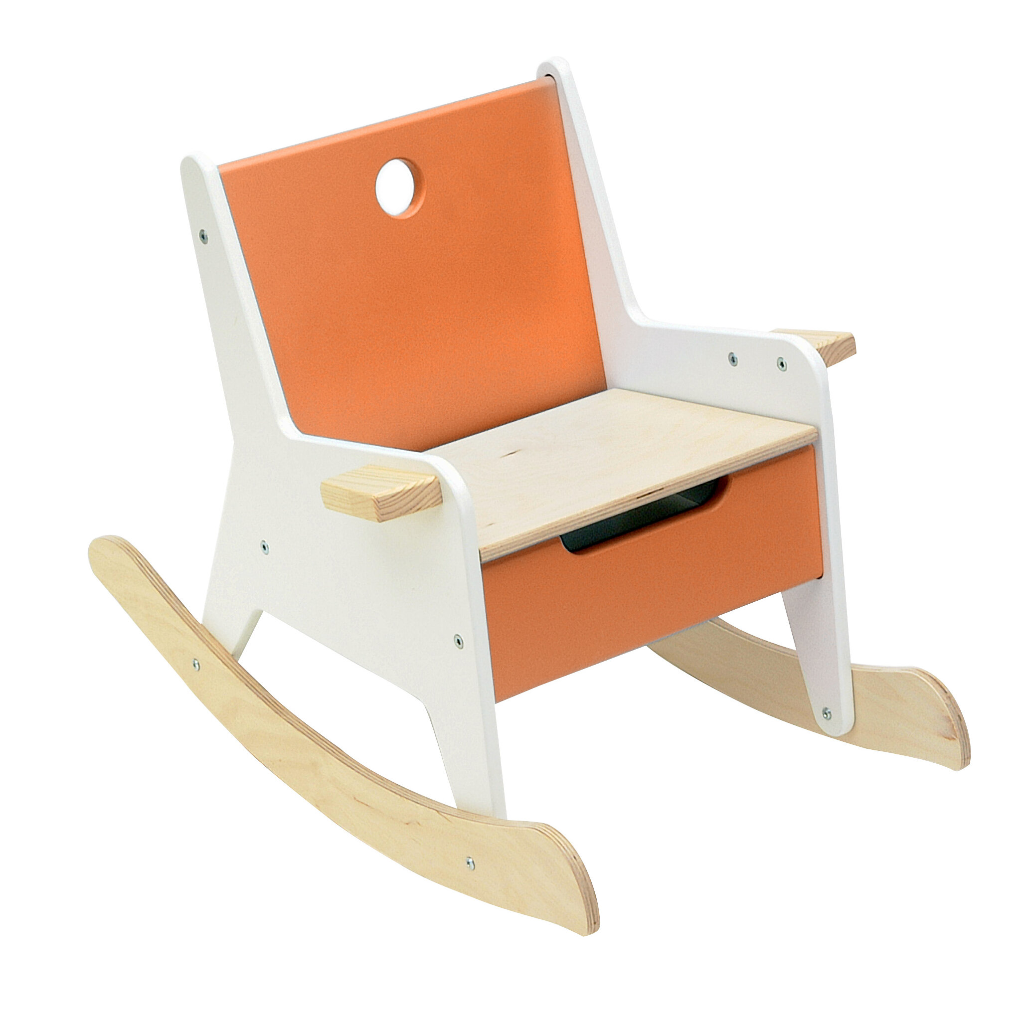 Admirable Rockabye Kids Rocking Chair With Storage Compartment Dailytribune Chair Design For Home Dailytribuneorg