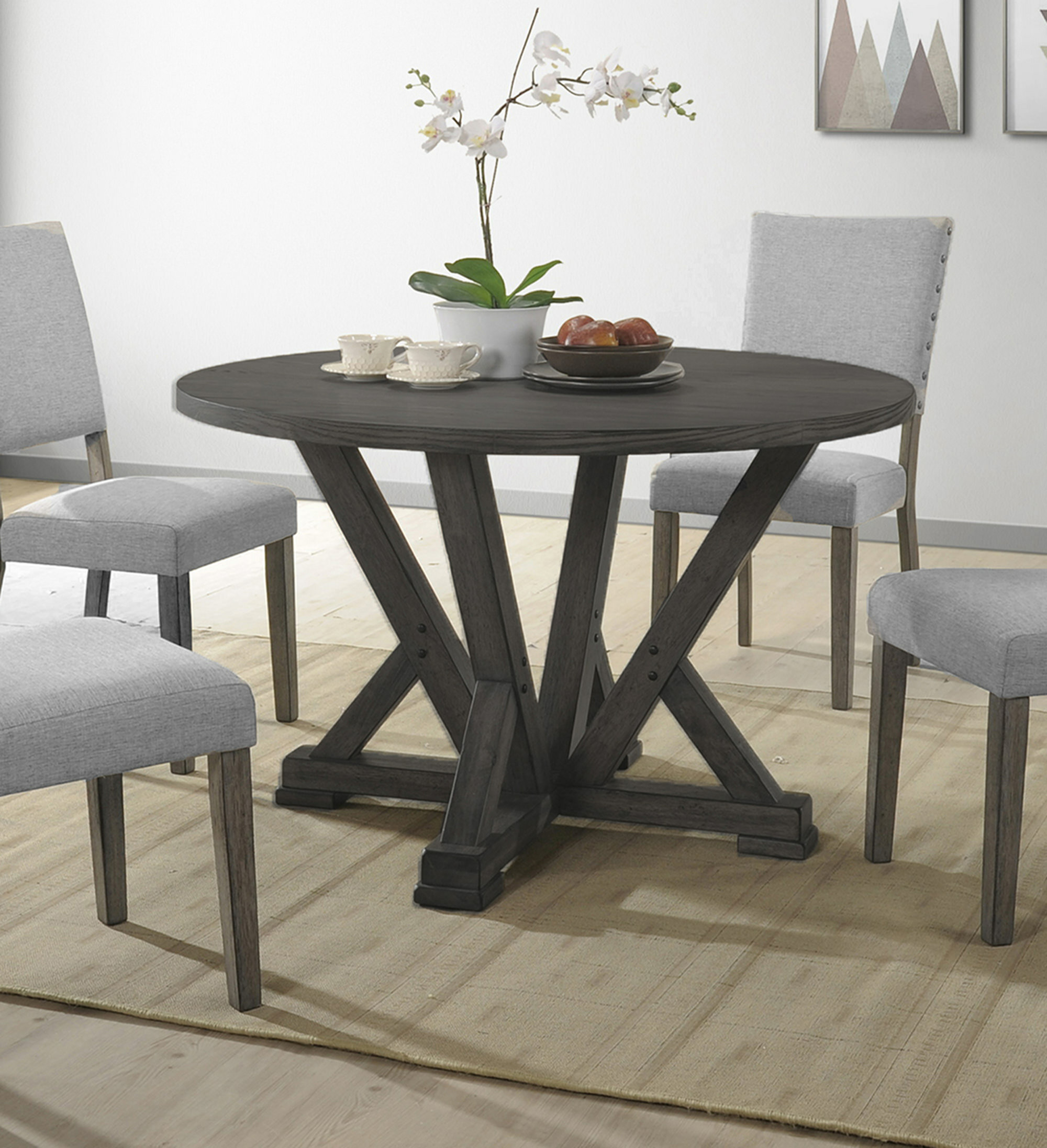 Gracie Oaks Batey Solid Wood Dining Table Reviews Wayfair