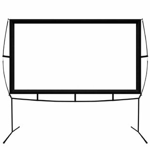 White Portable Folding Frame Projection Screen