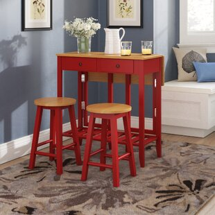 Galion 3 Piece Pub Table Set Winston Porter