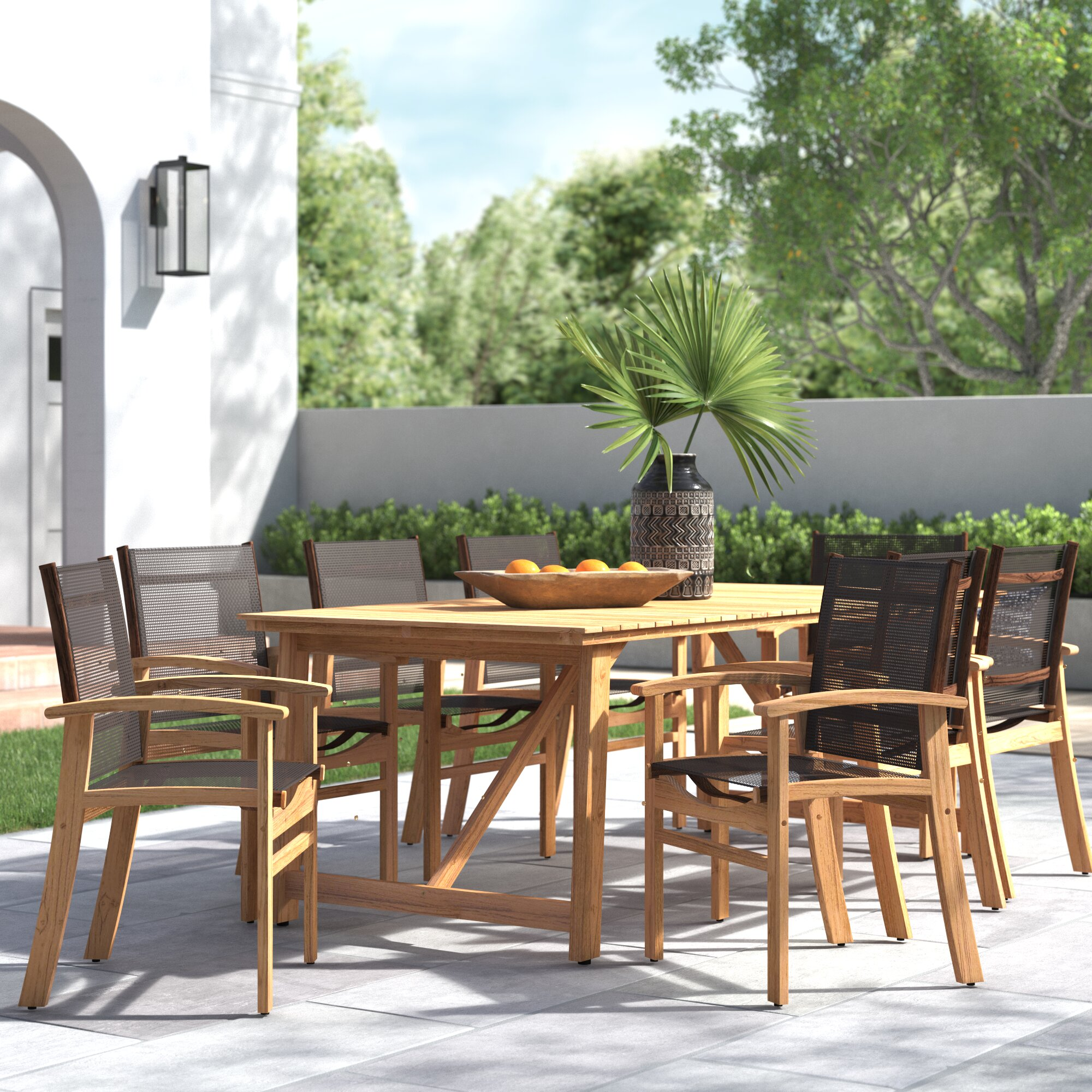 Bonjour 9 Piece Teak Dining Set Joss Main