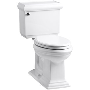 Read Reviews Memoirs Classic Comfort Height Two-Piece Elongated 1.28 GPF Toilet with Aquapiston Flush Technology and Left-Hand Trip Lever By Kohler