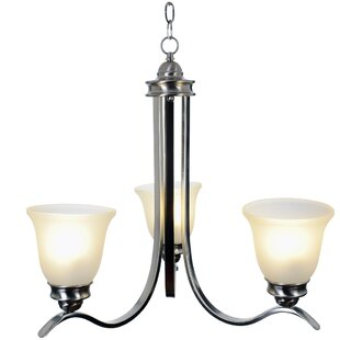 Sanibel 3-Light Shaded Chandelier by Monument
