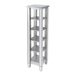 Kingsbury Mirrored Etagere Bookcase by House of Hampton
