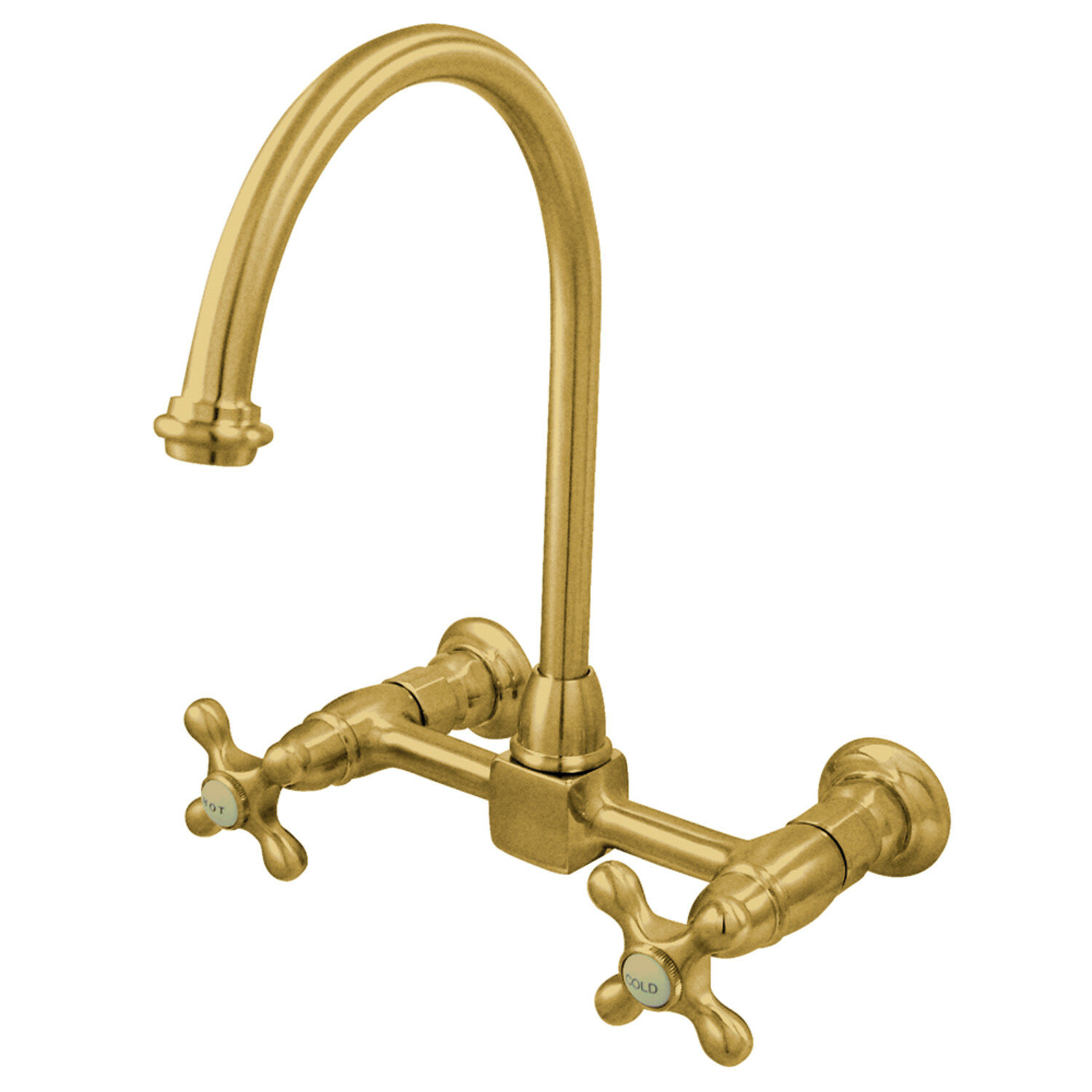 Restoration Wall Mounted Double Handle Kitchen Faucet