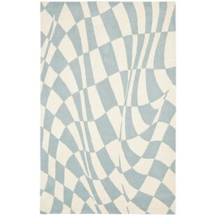 Reviews Peralta Light Blue / Ivory Contemporary Rug By Zipcode Design