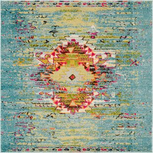 Cassava Turquoise Area Rug by Mistana