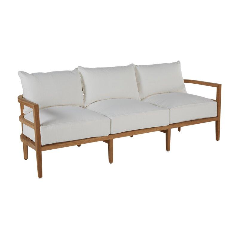 Summer Classics Santa Barbara Teak Patio Sofa With