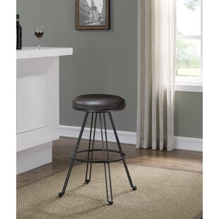 Mandie Backless Swivel Round Bar Stool by..