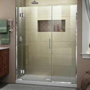 DreamLine Unidoor-X 62 1/2-63 in. W x 72 in. H Frameless Hinged Shower Door