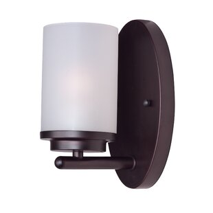 Callender 1-Light Glass Shade Bath Sconce by Latitude Run