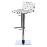 Barber Swivel Upholstery Adjustable Height Bar Stool by Orren Ellis