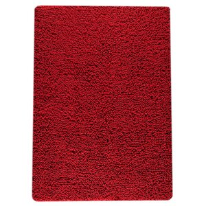 Square Hand-Woven Red Area Rug