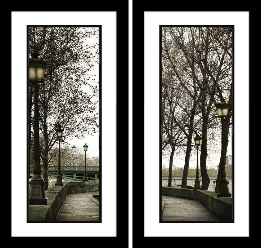Three Posts \'Along the Quai\' 2 Piece Framed Photographic Print Set ...