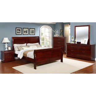 Veasley Sleigh 5 Piece Bedroom Set