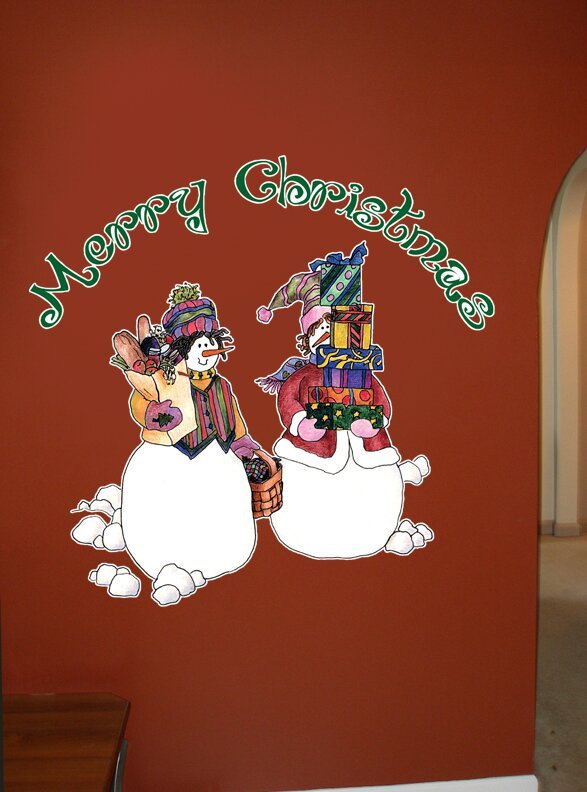 Wallhogs Schmeltzer Snowpeople Shopping Cutout Wall Decal Wayfair