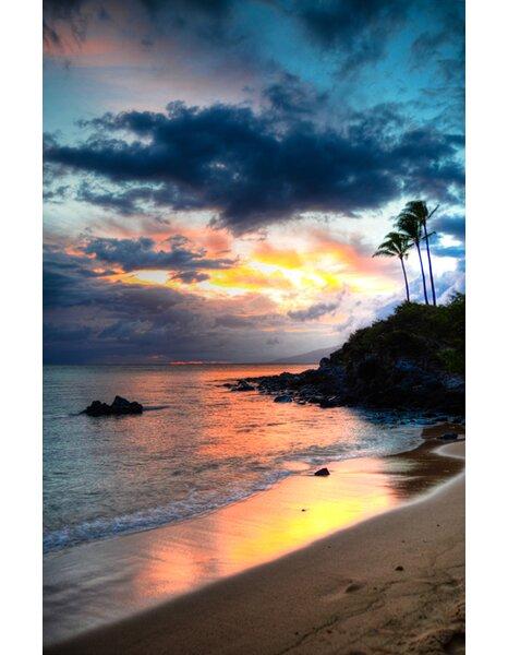 Hadleyhouseco Kapalua Maui Sunset Hawaiian Islands By Kelly Wade Photographic Print On Wrapped Canvas Wayfair