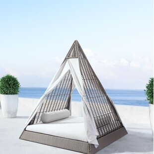 Haubert Patio Daybed With Cushions By Brayden Studio