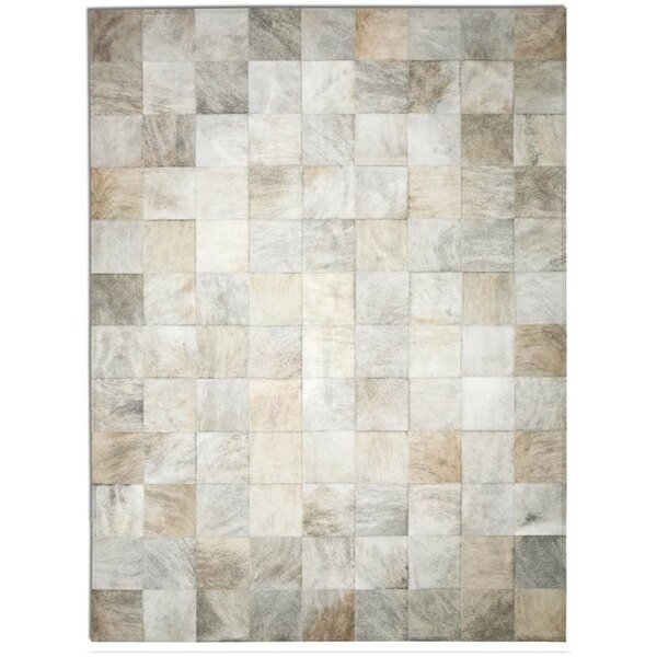 Pure Rugs Patchwork Cowhide Park Light Brindle Area Rug Reviews Wayfair