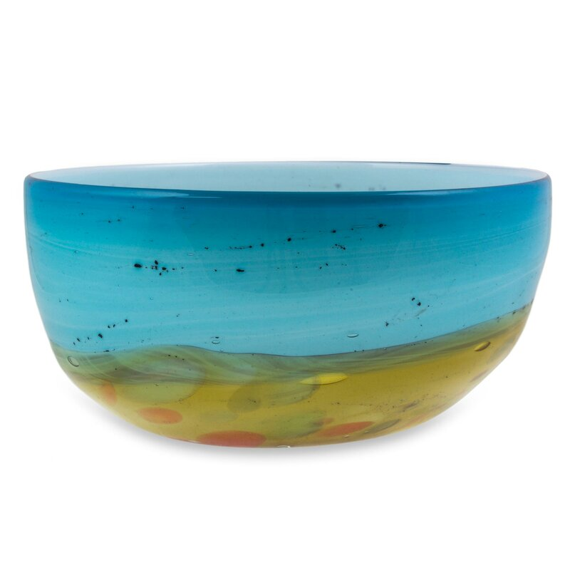 Decorative Blown Glass Bowls Delectable George Oliver Luke Amber Blown Glass Decorative Bowl & Reviews Decorating Inspiration