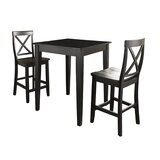 Haslingden 3 Piece Counter Height Pub Table Set by Three Posts