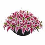 Lily Centerpiece Artificial Floral Arrangement