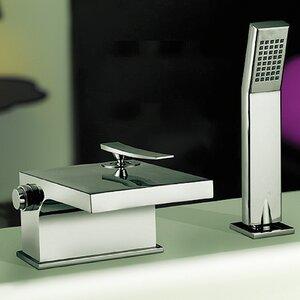 Zweigriff-Wannenarmatur Aufputz mit Brause von Belfry Bathroom