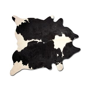 Reviews Abhinav Hand Woven Black/White Cowhide Area Rug By 17 Stories