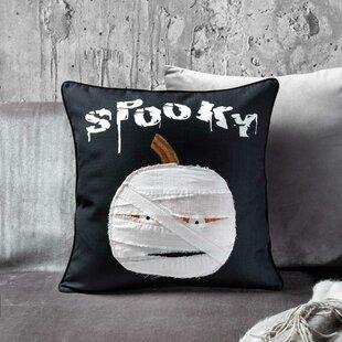 Pumpkin Mummy Throw Pillow