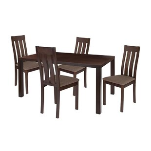 Micah 5 Piece Solid Wood Dining Set by Ebern Designs