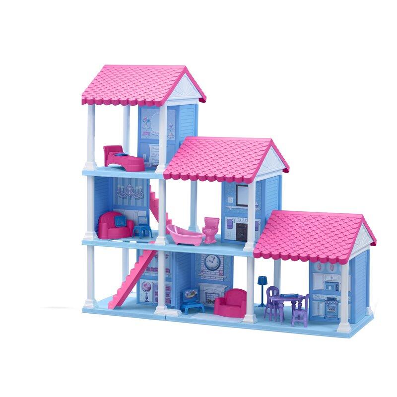 a488c78a1ec American Plastic Toys 25 Piece Delightful Dollhouse Set & Reviews ...