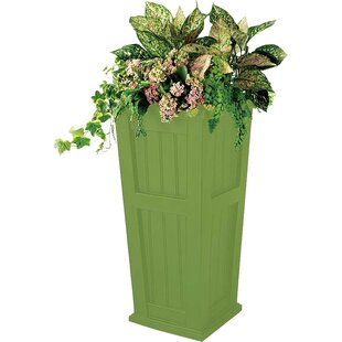Plow & Hearth Lexington Tall Self-Watering Plastic Pot Planter