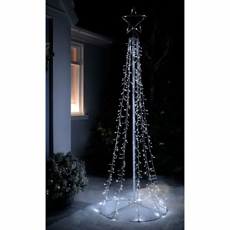 pre lit led waterfall pop up christmas tree - Pop Up Christmas Tree With Lights And Decorations