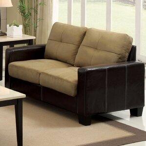 Townsend Leather Loveseat by Hokku Designs