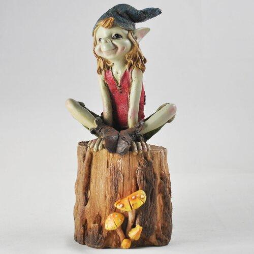 2-tlg. Gartenfiguren-Set Kobold auf Baumstämmen Happy Larry | Garten > Dekoration > Dekofiguren | Happy Larry