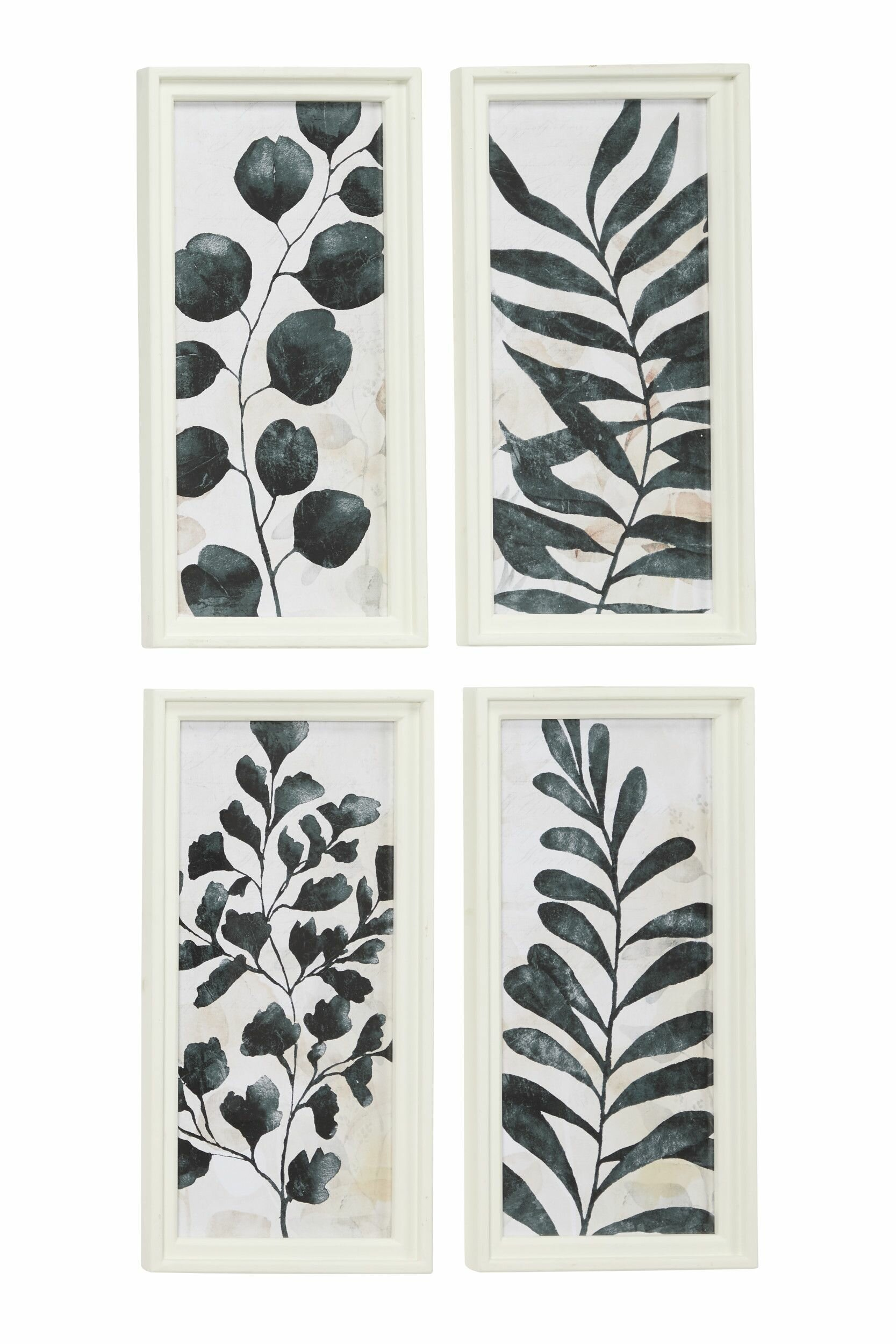 Union Rustic Watercolor Plant Illustrations 4 Piece Framed Painting Set On Wood Reviews Wayfair