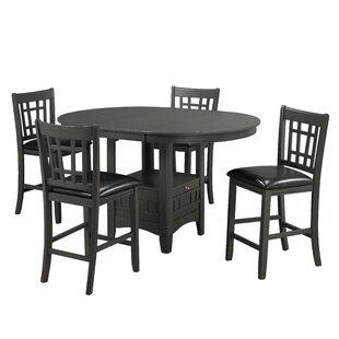 Gerold 5 Piece Pub Table Set
