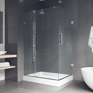Shower 48.13 inch  x 79.25 inch  Rectangle Pivot Shower enclosure with Base Included
