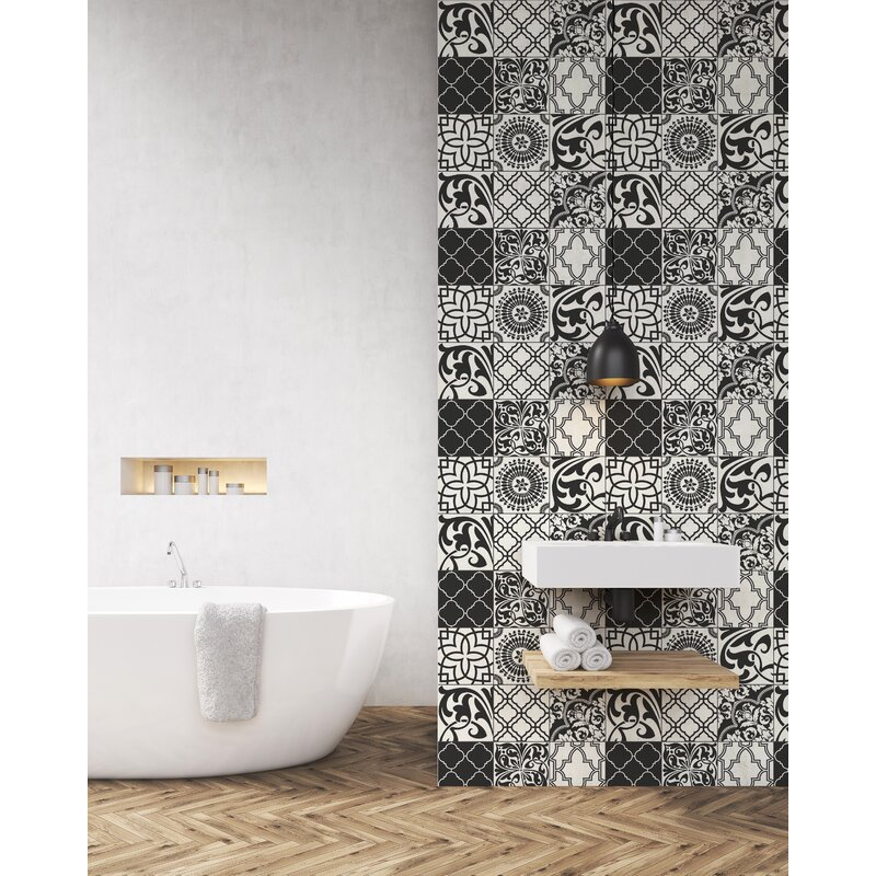 Corley Graphic Moroccan Tile 18 L X 205 W Peel And Stick Wallpaper Roll
