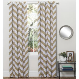 Brown Chevron Curtains Drapes
