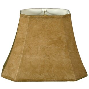 Leather or faux leather light shades youll love wayfair timeless 16 faux leather bell lamp shade aloadofball Choice Image