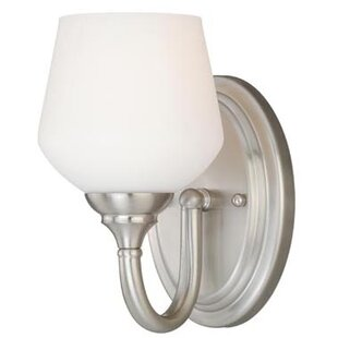 Abrahamson 1-Light Bath Sconce by Winston Porter